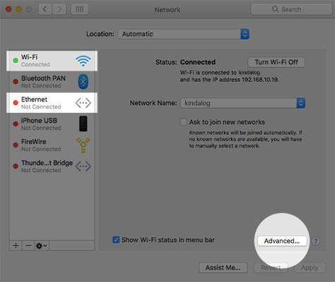Thay đổi DNS trên macOS